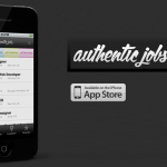 App: Authentic Jobs for iPhone