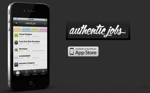 Authentic Jobs iPhone App