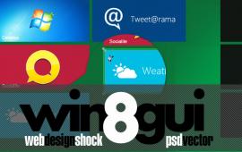Windows UI 8 PSD