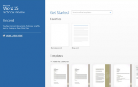 MS Office 15 Technical Preview