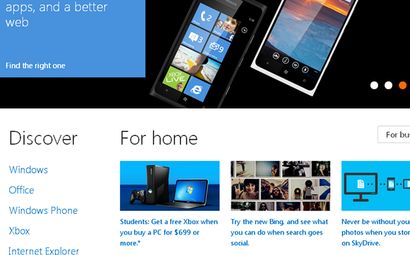 Microsoft Implements Responsive Design